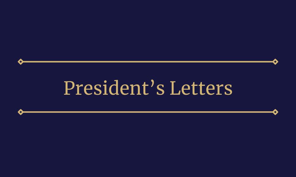 President's Letters